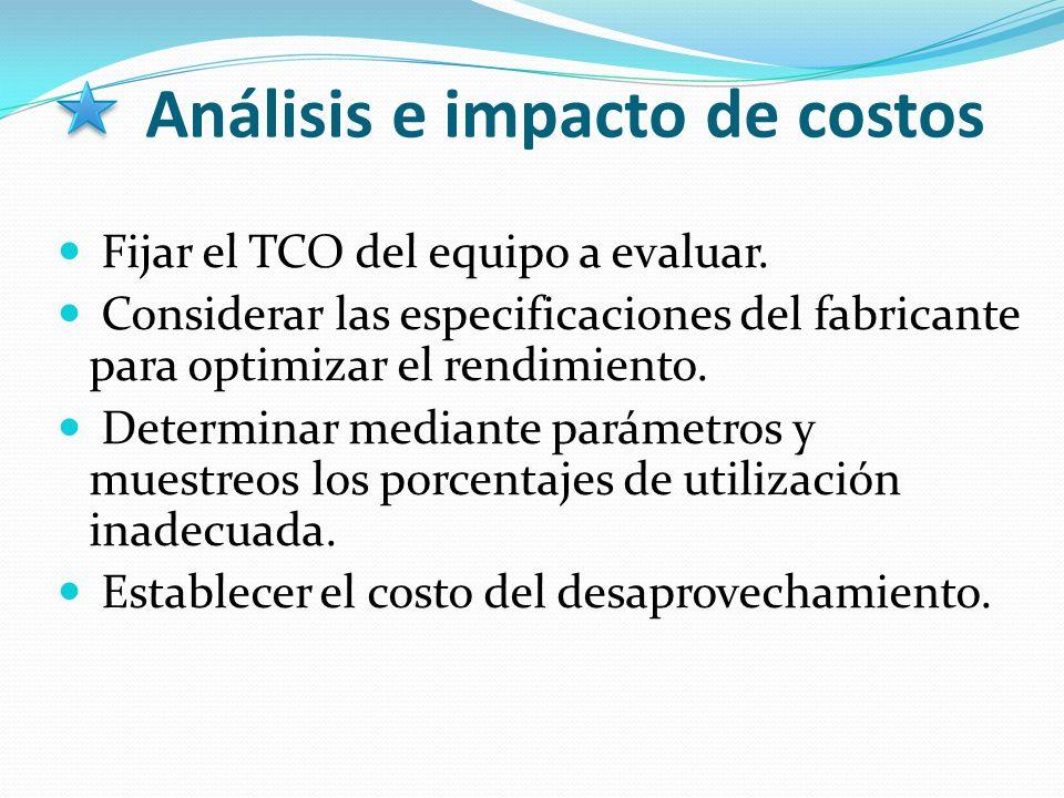 Análisis e impacto de costos
