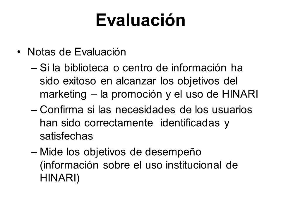 Evaluación Notas de Evaluación