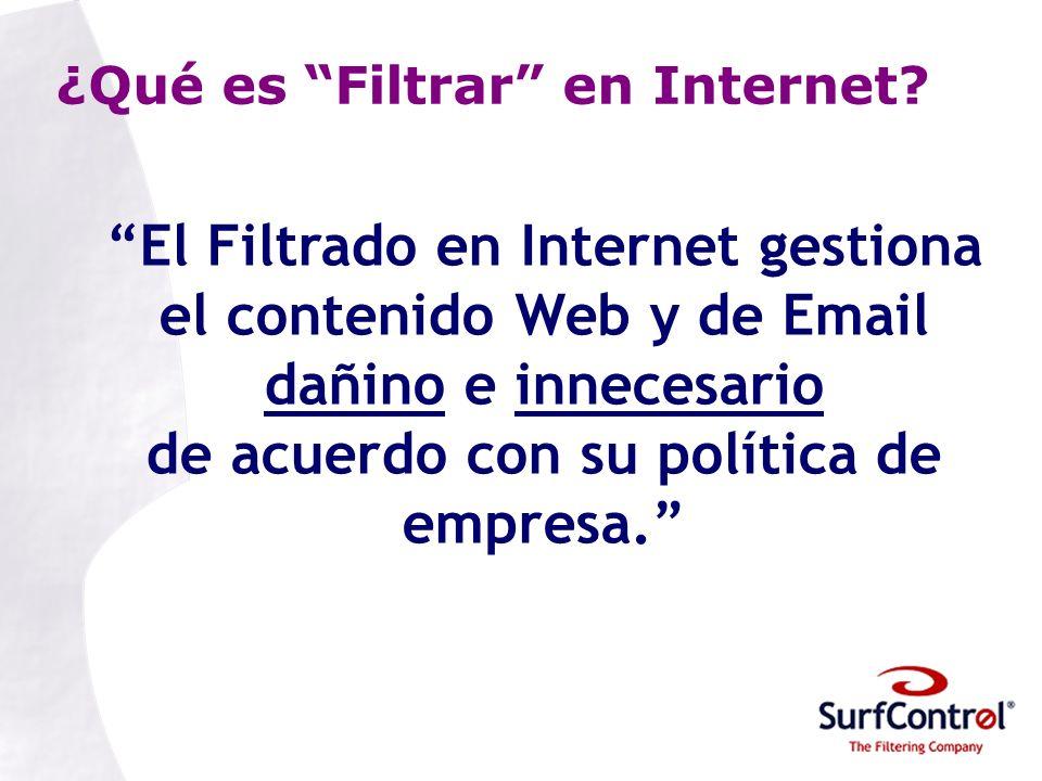 ¿Qué es Filtrar en Internet