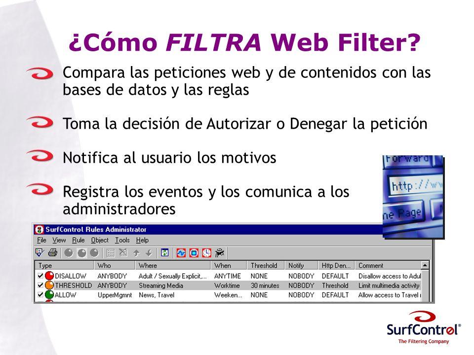 ¿Cómo FILTRA Web Filter