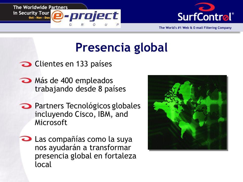 Presencia global Clientes en 133 países