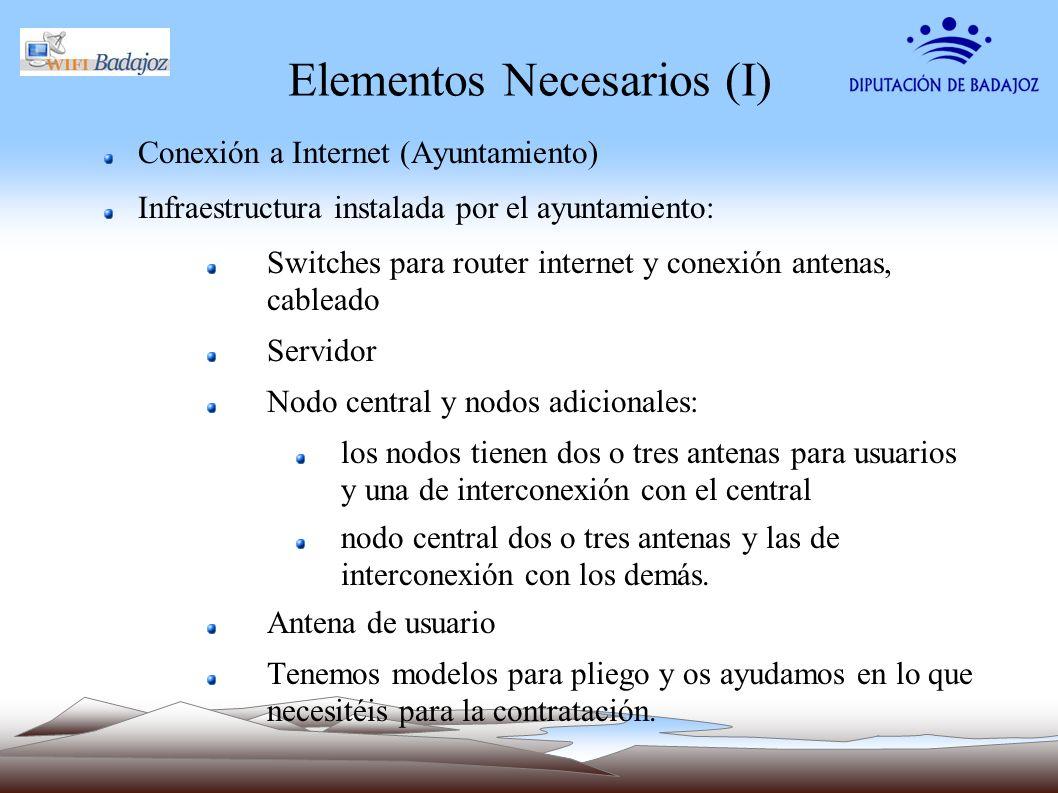 Elementos Necesarios (I)