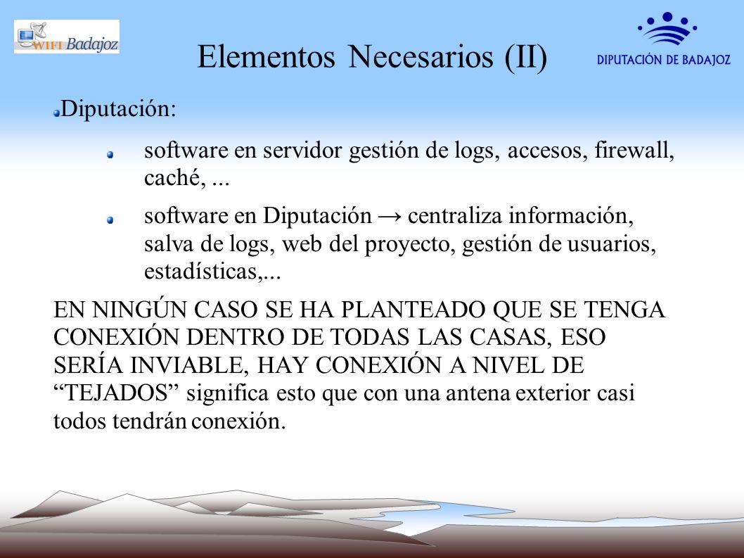Elementos Necesarios (II)