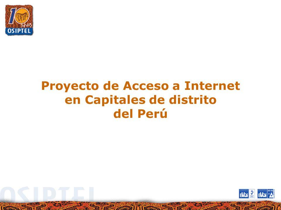 Proyecto de Acceso a Internet en Capitales de distrito