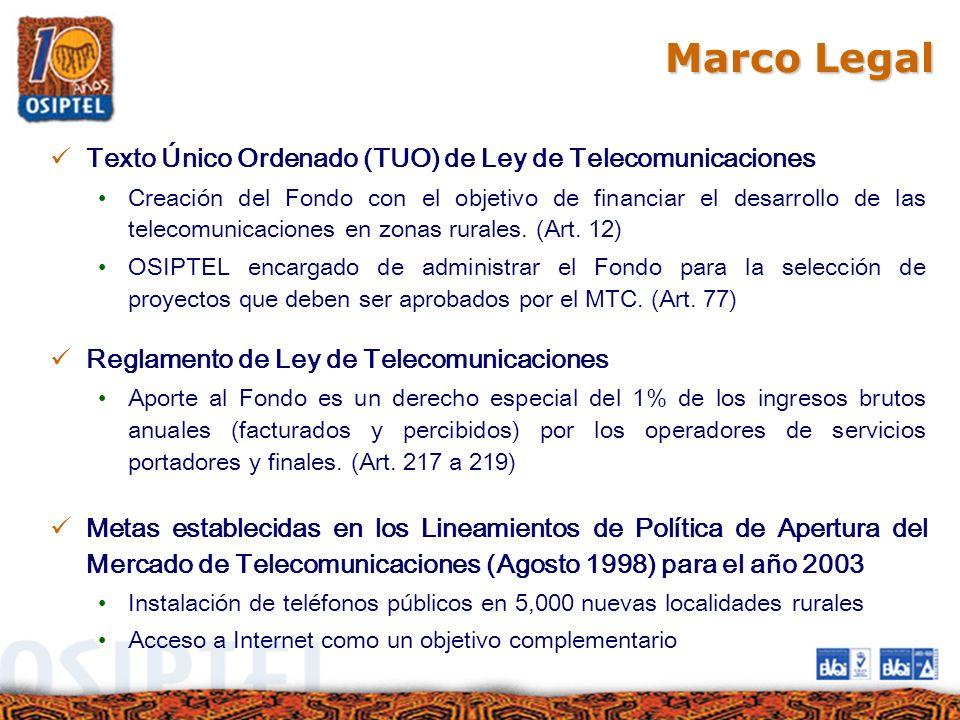 Marco Legal Texto Único Ordenado (TUO) de Ley de Telecomunicaciones