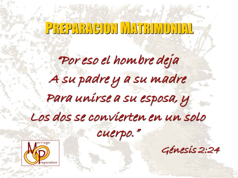 PREPARACION MATRIMONIAL