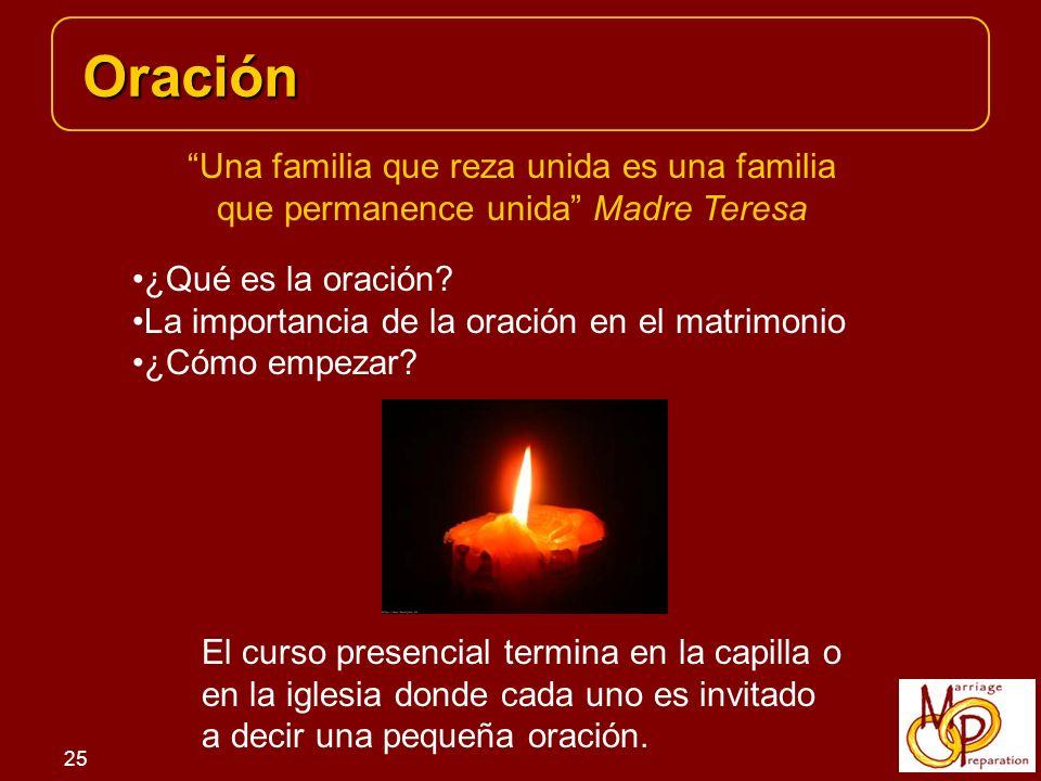 Oración Una familia que reza unida es una familia