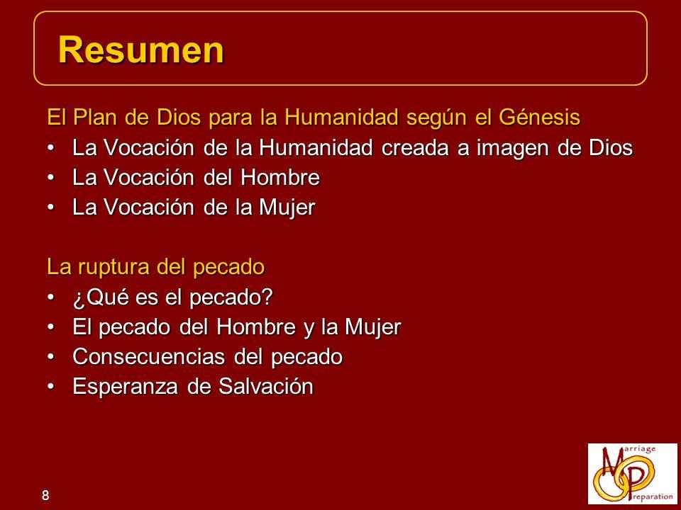 Resumen El Plan de Dios para la Humanidad según el Génesis