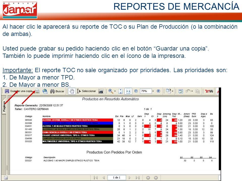 REPORTES DE MERCANCÍA
