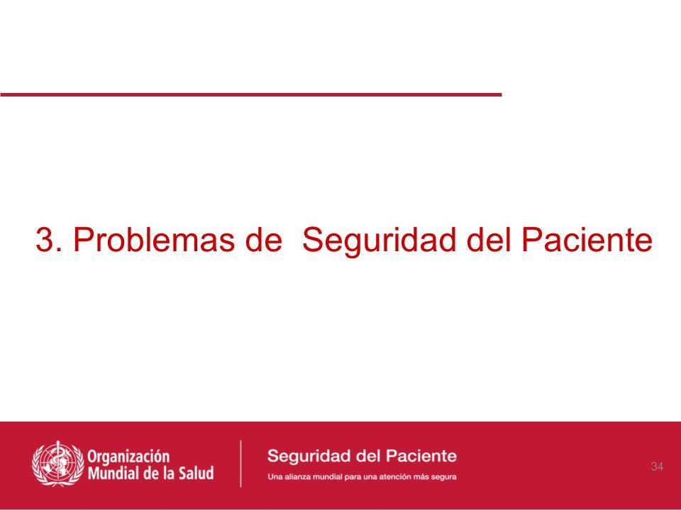 3. Problemas de Seguridad del Paciente