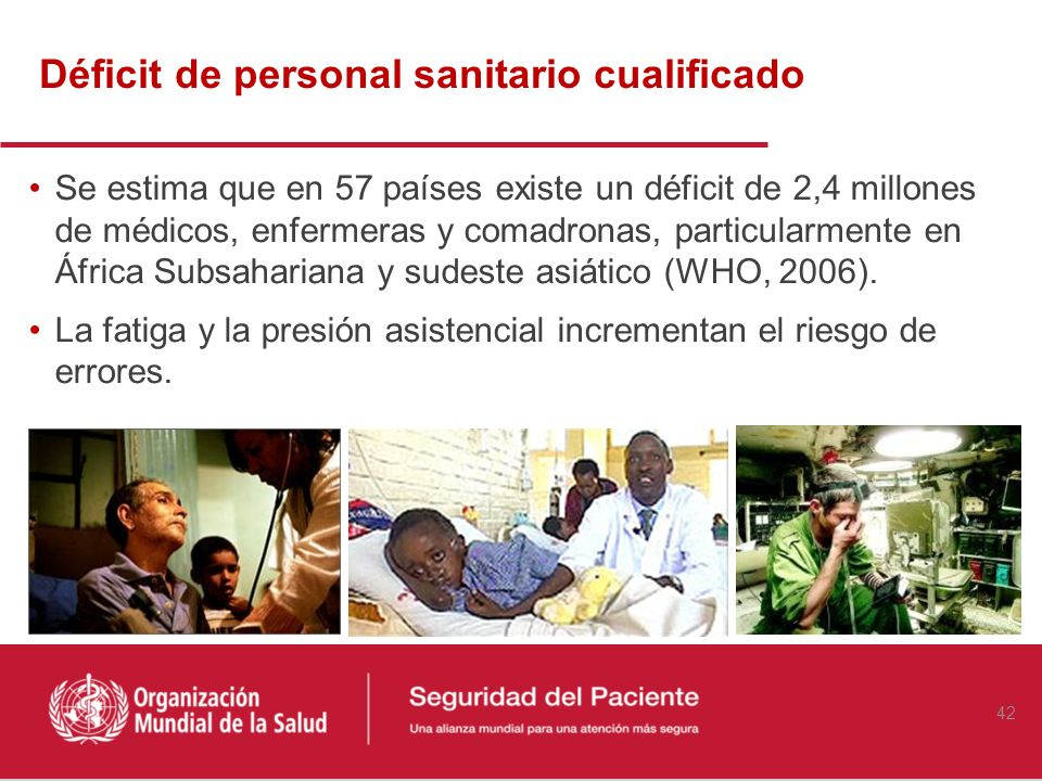 Déficit de personal sanitario cualificado