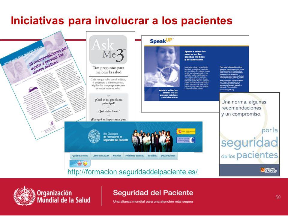 Iniciativas para involucrar a los pacientes