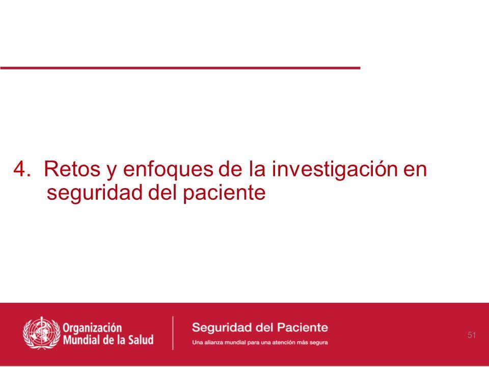 4. Retos y enfoques de la investigación en seguridad del paciente