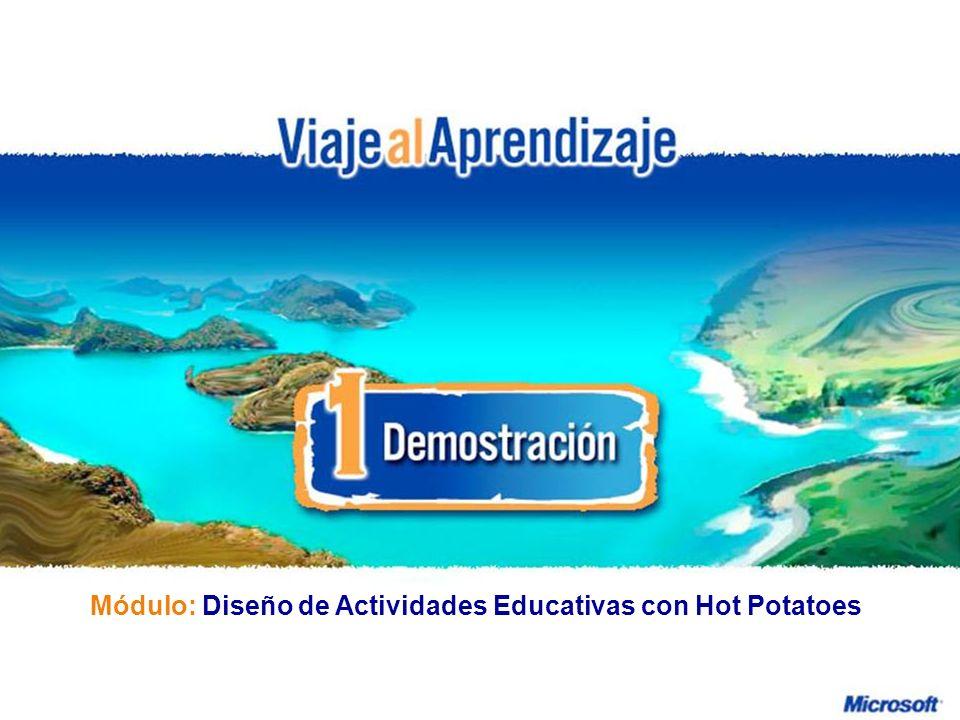 Módulo: Diseño de Actividades Educativas con Hot Potatoes