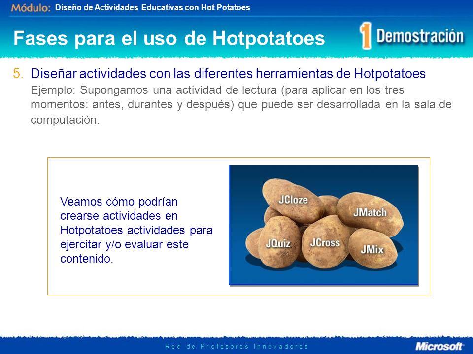 Fases para el uso de Hotpotatoes