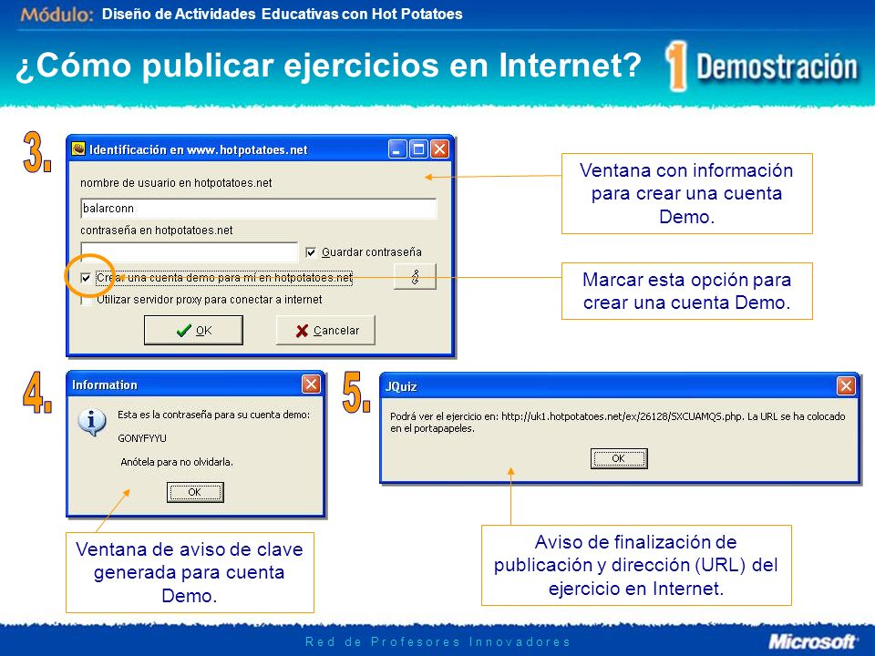¿Cómo publicar ejercicios en Internet