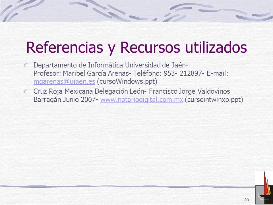 Referencias y Recursos utilizados