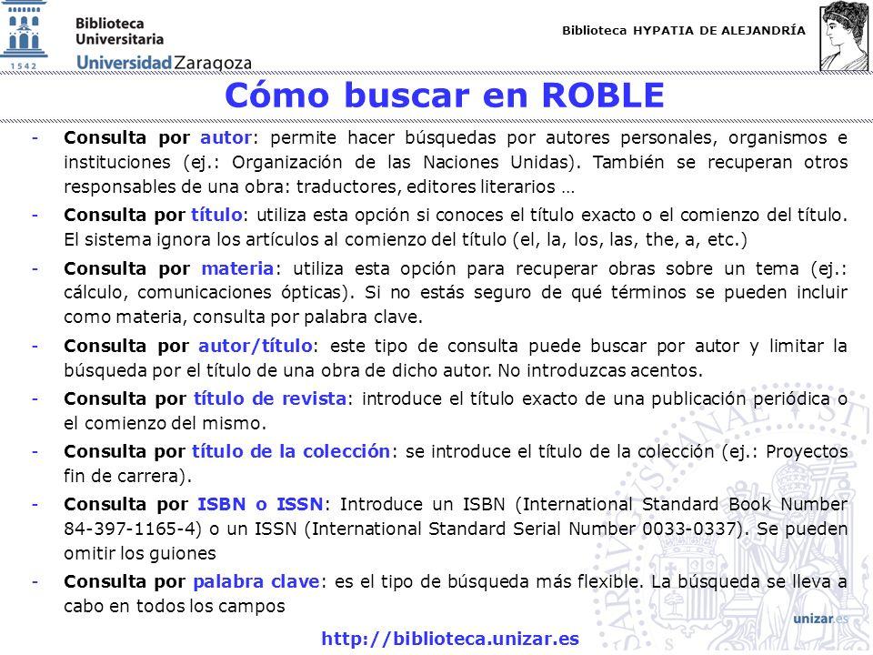 Cómo buscar en ROBLE