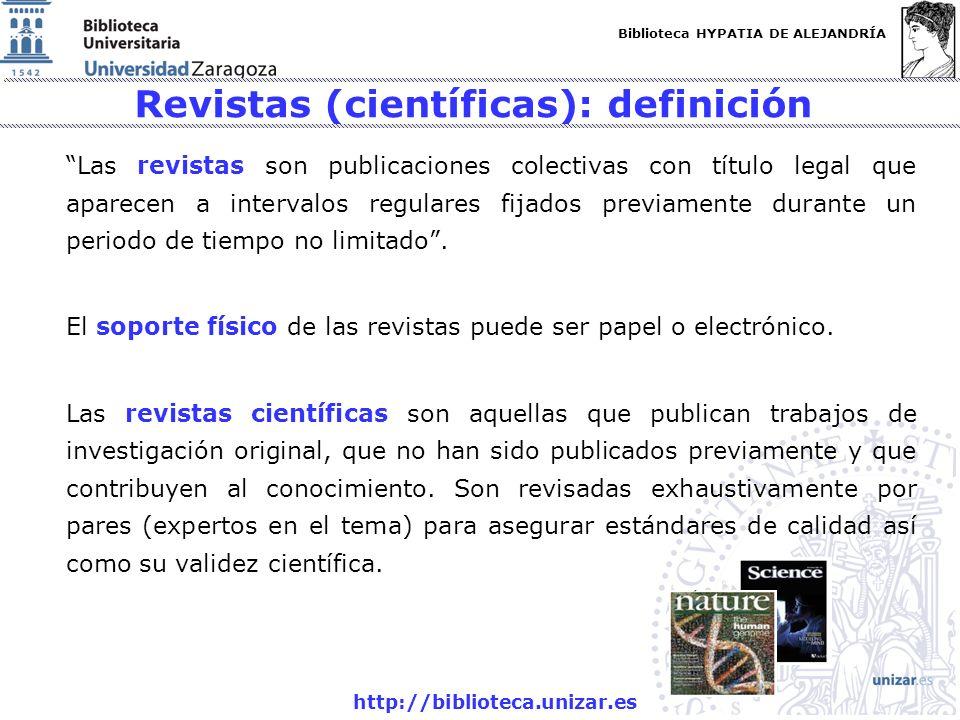 Revistas (científicas): definición