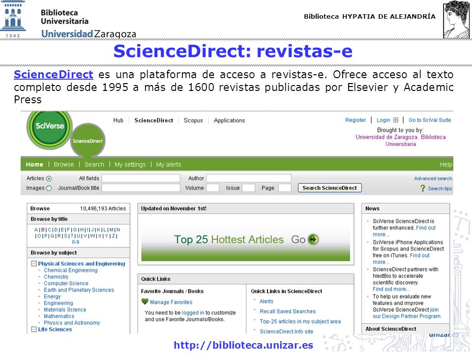 ScienceDirect: revistas-e