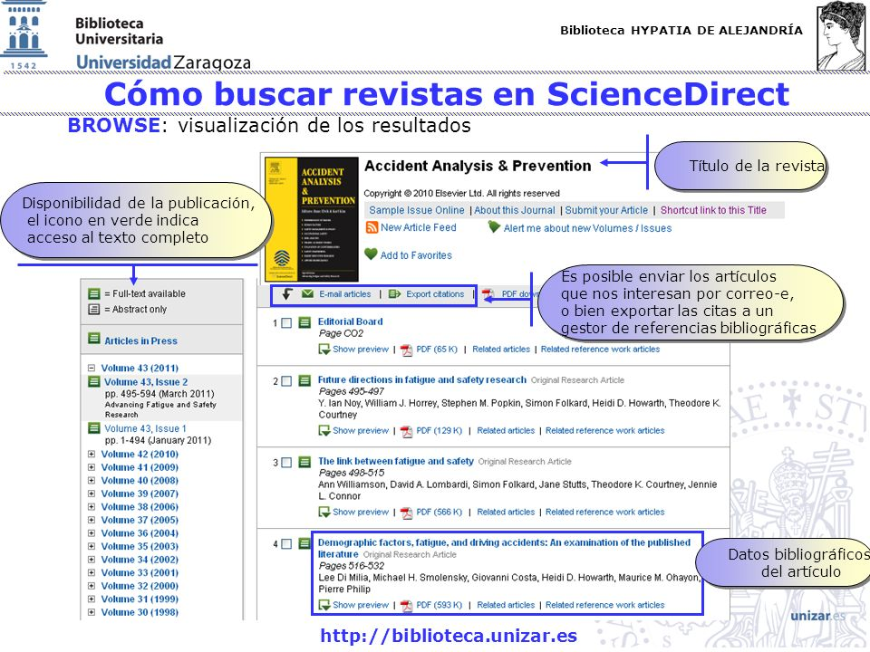 Cómo buscar revistas en ScienceDirect