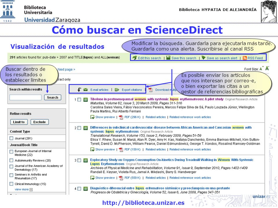 Cómo buscar en ScienceDirect