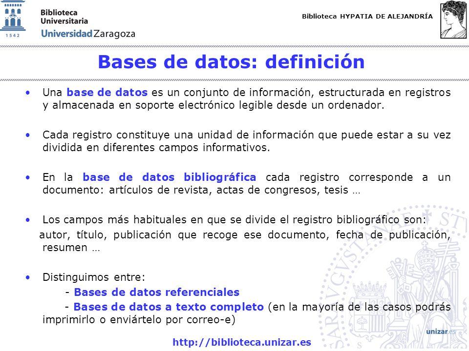 Bases de datos: definición