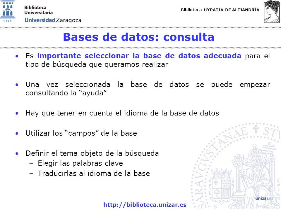 Bases de datos: consulta