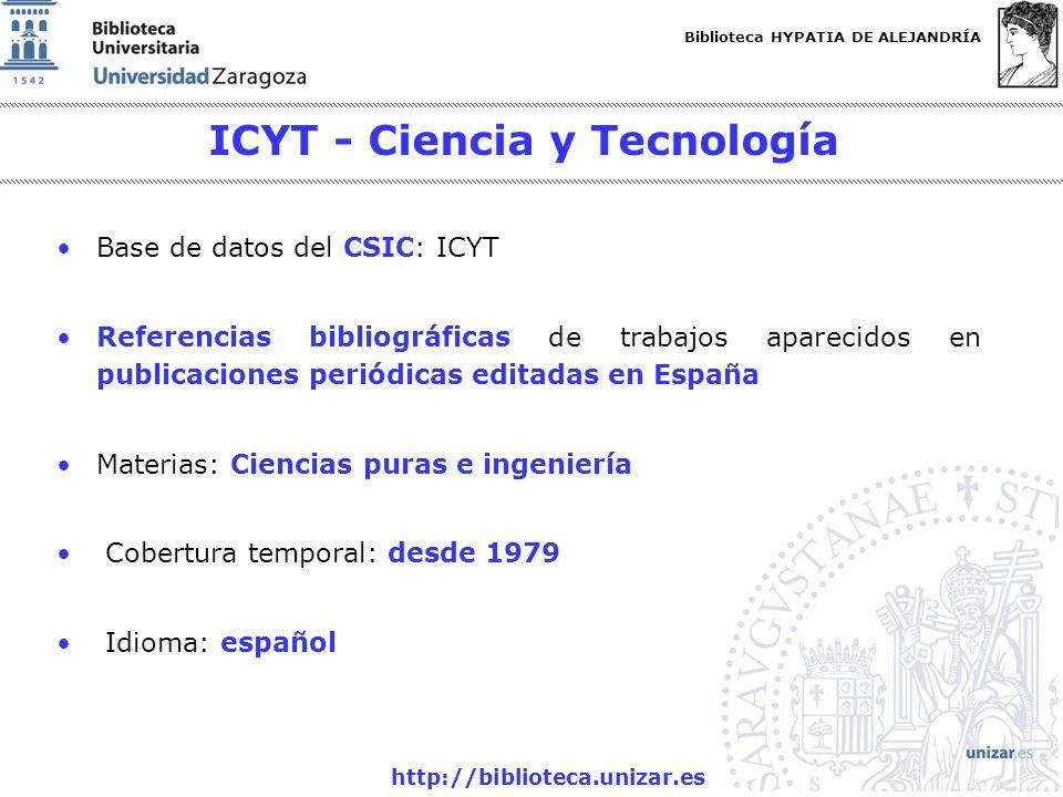ICYT - Ciencia y Tecnología