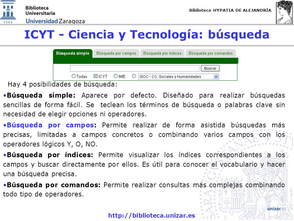 ICYT - Ciencia y Tecnología: búsqueda