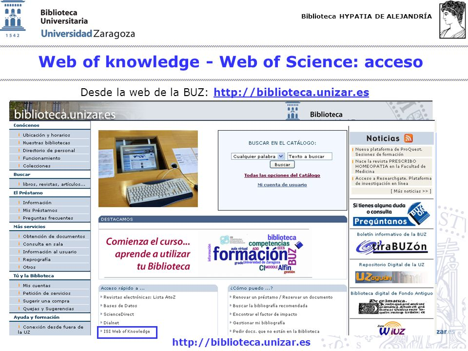 Web of knowledge - Web of Science: acceso