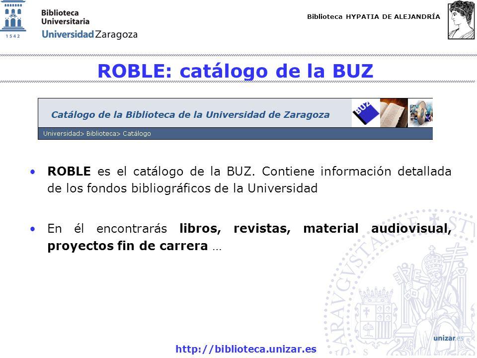 ROBLE: catálogo de la BUZ