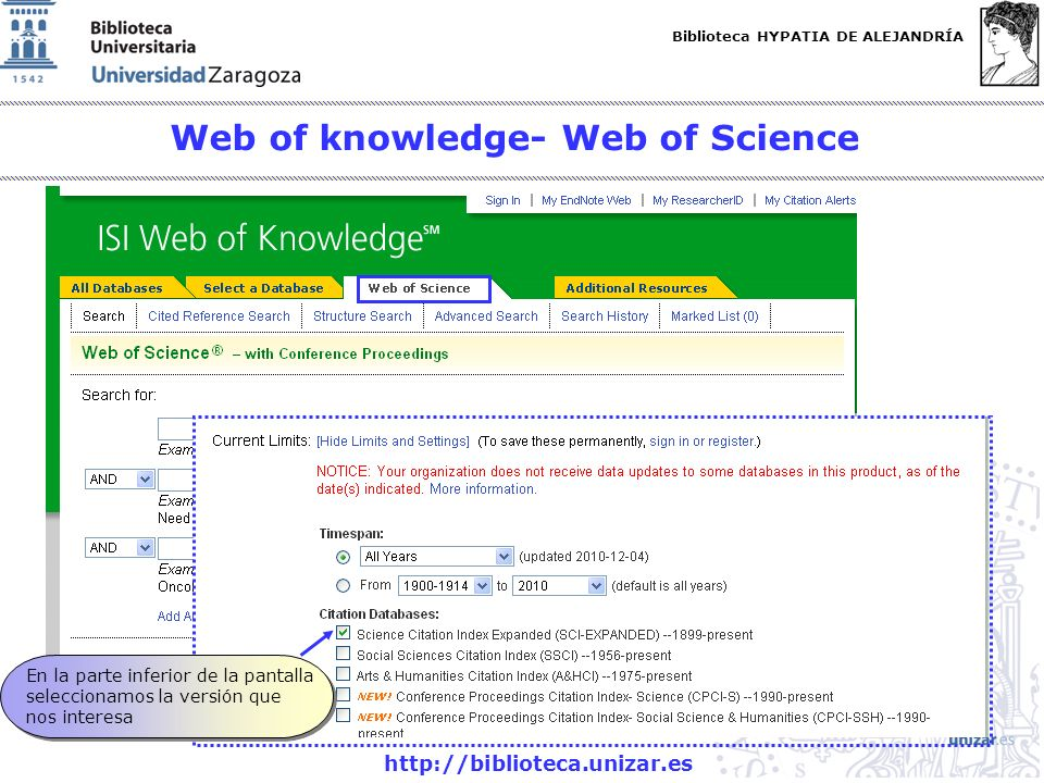 Web of knowledge- Web of Science