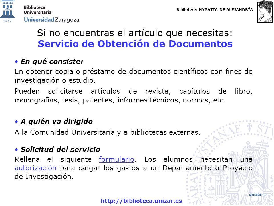 Si no encuentras el artículo que necesitas: Servicio de Obtención de Documentos