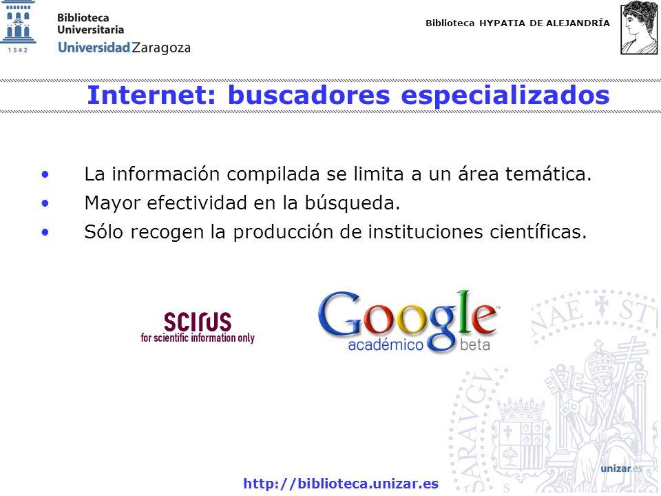 Internet: buscadores especializados