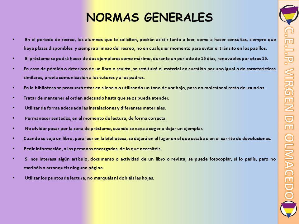 NORMAS GENERALES