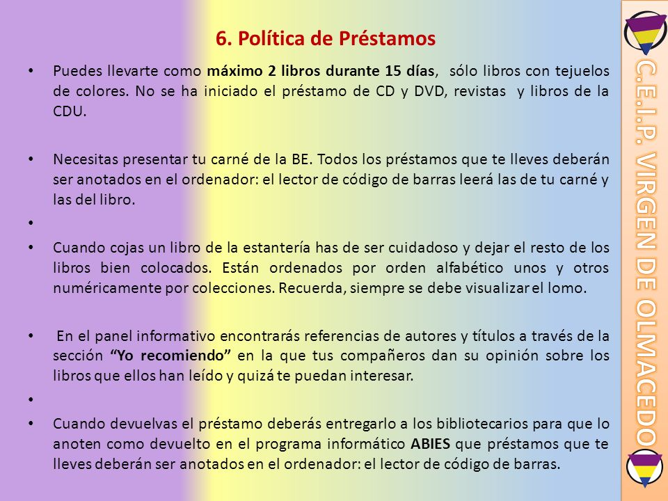 6. Política de Préstamos