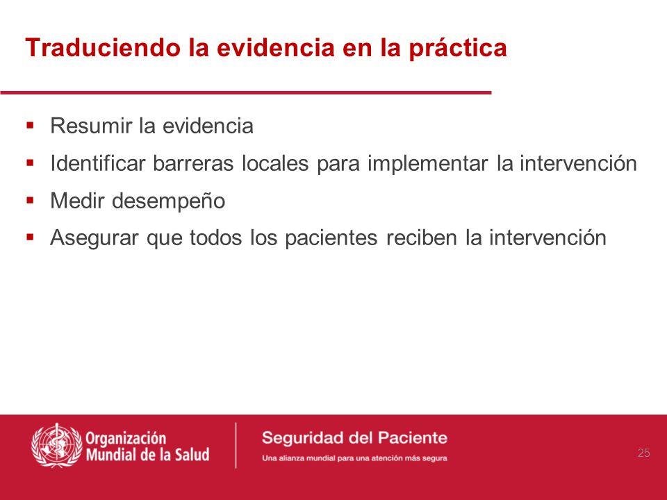 Traduciendo la evidencia en la práctica