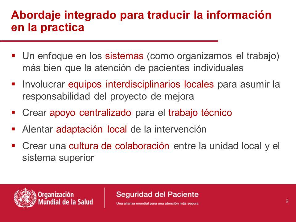 Abordaje integrado para traducir la información en la practica