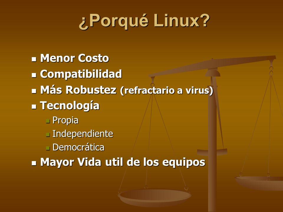 ¿Porqué Linux Menor Costo Compatibilidad