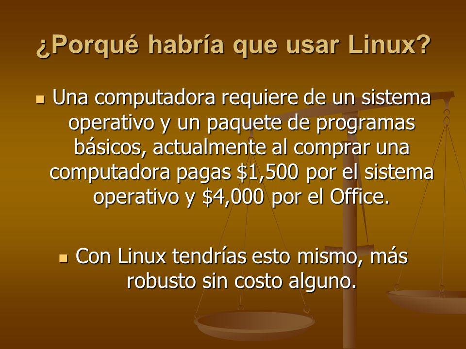 ¿Porqué habría que usar Linux