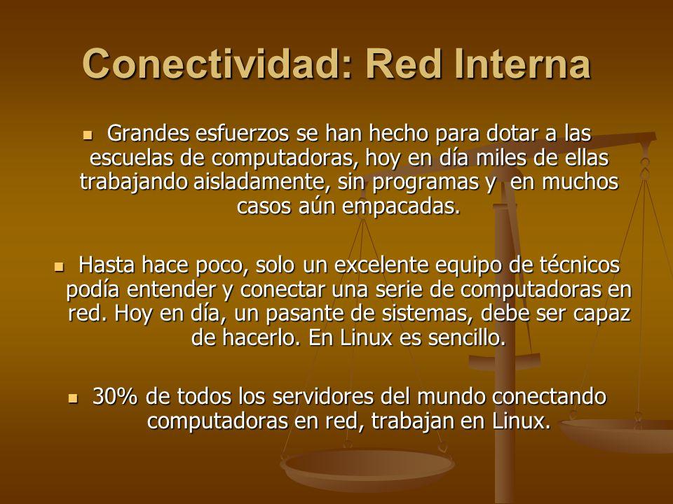 Conectividad: Red Interna