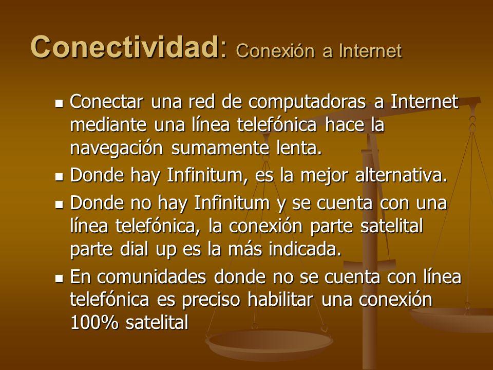 Conectividad: Conexión a Internet