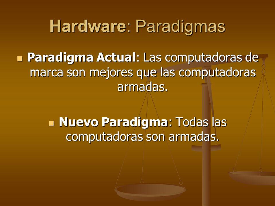 Nuevo Paradigma: Todas las computadoras son armadas.