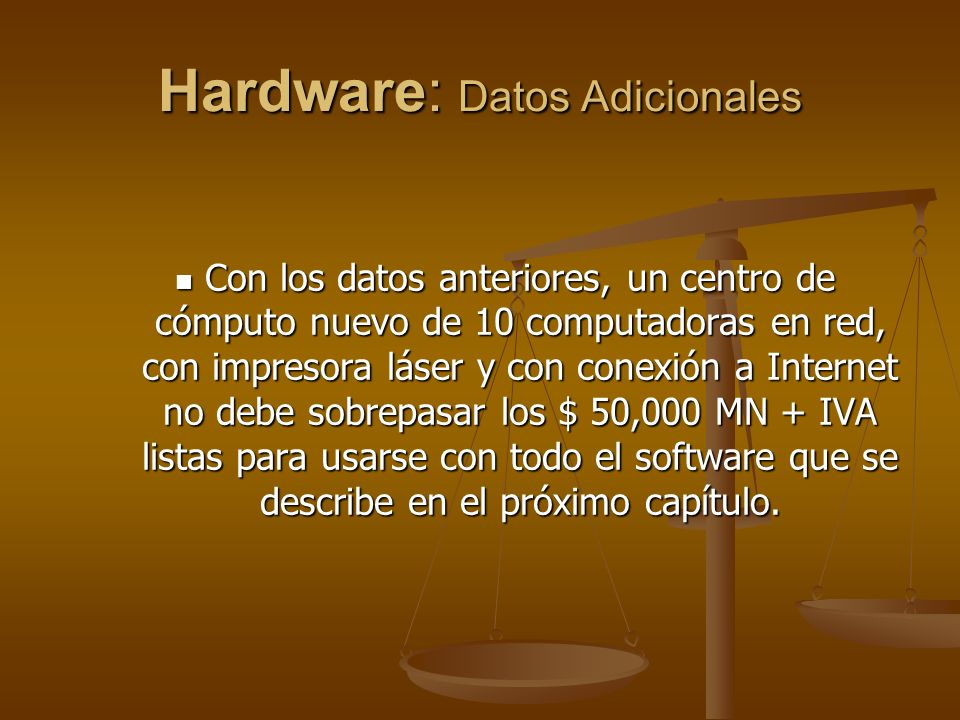 Hardware: Datos Adicionales