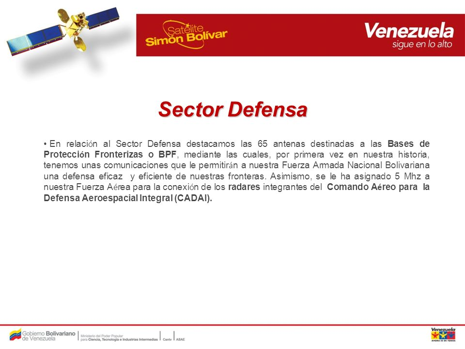 Sector Defensa