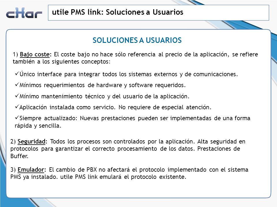 utile PMS link: Soluciones a Usuarios