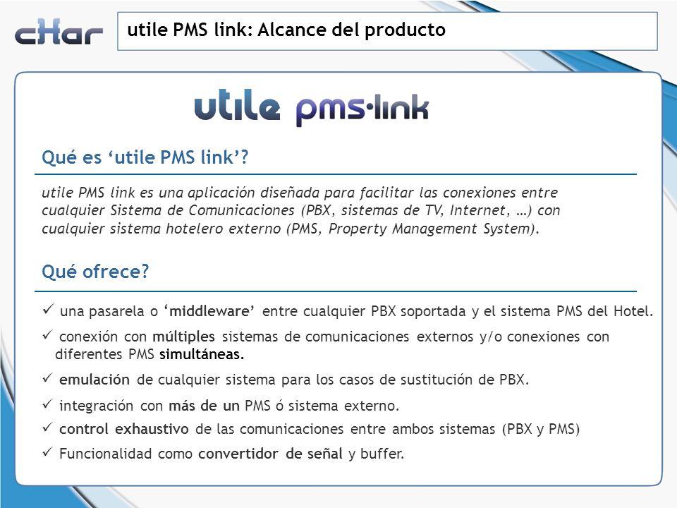 utile PMS link: Alcance del producto