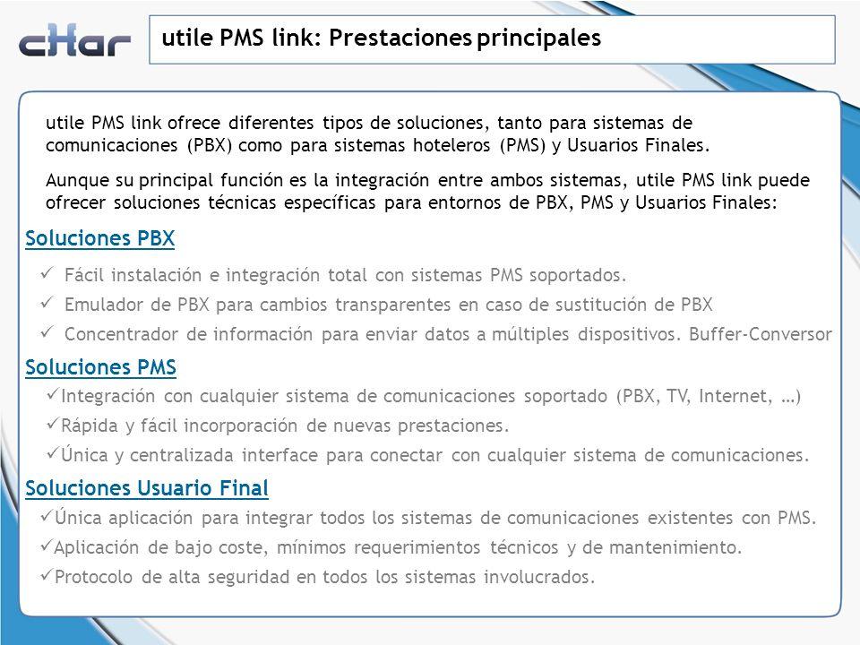 utile PMS link: Prestaciones principales