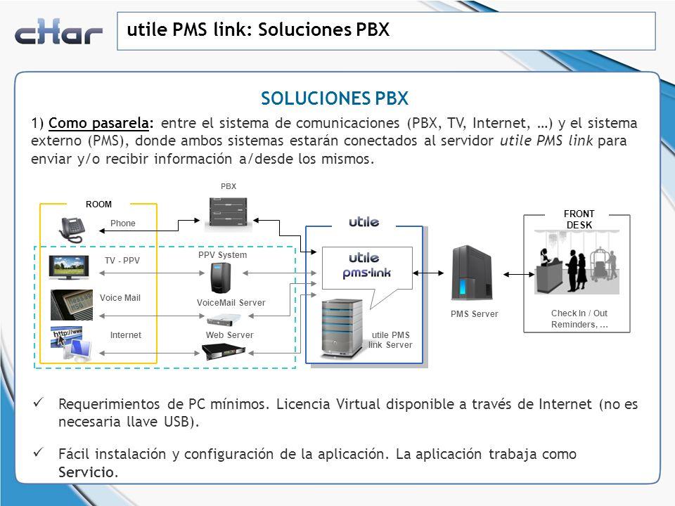 utile PMS link: Soluciones PBX